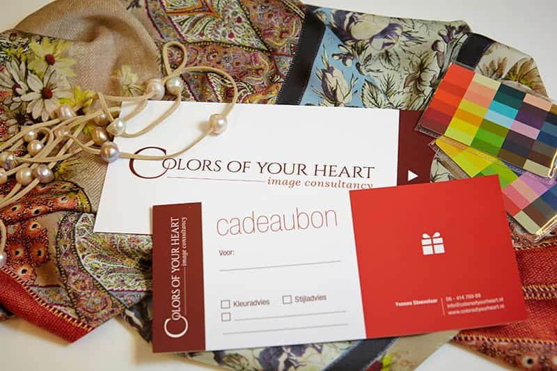 Cadeaubon Colors of your heart image consultancy
